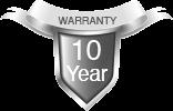 10 Years Free Warranty