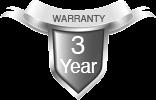3 Years Free Warranty