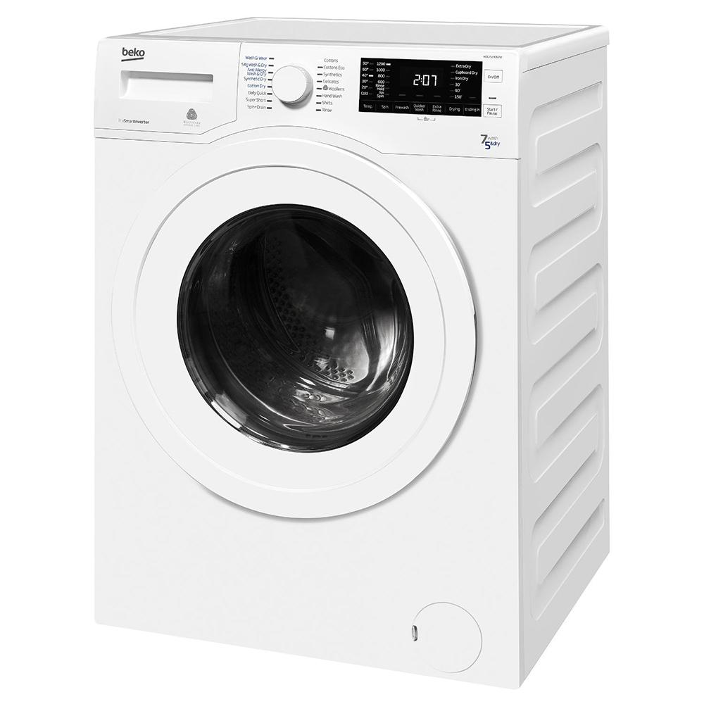 beko wdc7523002w 7kg wash 5kg dry 1200 spin washer dryer. Black Bedroom Furniture Sets. Home Design Ideas