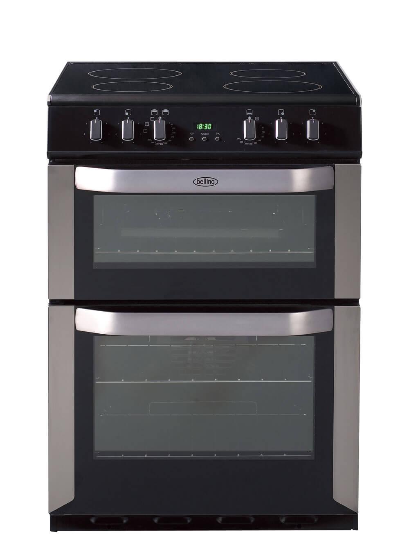 Kitchen Outlet Hob ~ Belling fse dopss cm electric cooker with ceramic hob