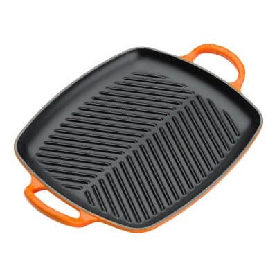 Signature Cast Iron 30cm Rectangular Grill in Volcanic