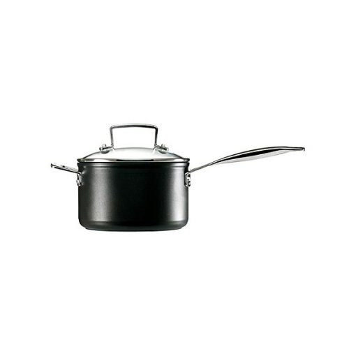 Toughened Non Stick 3 Saucepan Set In Black