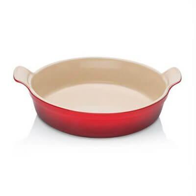 Le Creuset Stoneware 24cm Heritage Round Dish in Cerise