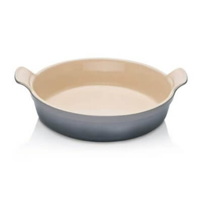 Le Creuset Stoneware 24cm Heritage Round Dish in Flint