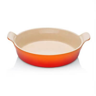 Le Creuset Stoneware 24cm Heritage Round Dish in Volcanic